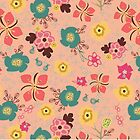 Ditsy Flowers in pink by Michelle  Grace
