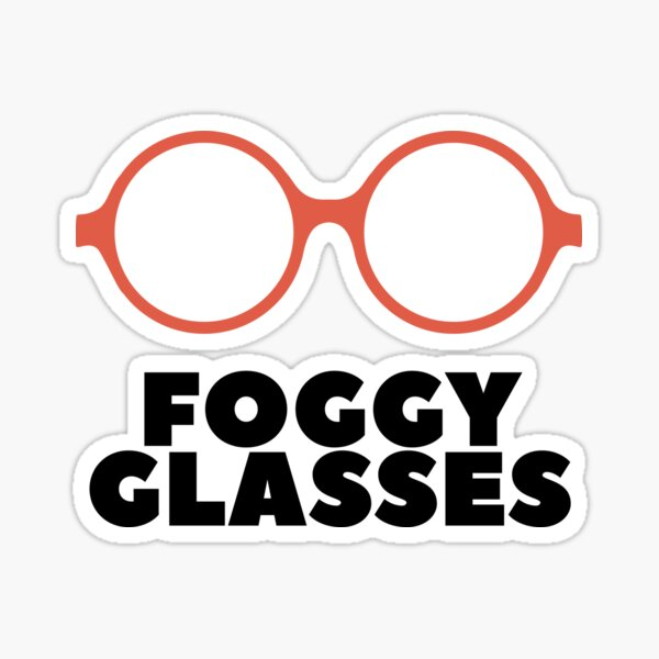Foggy Glasses Sticker