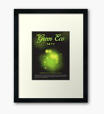 Green Eco Framed Print