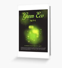 Green Eco Greeting Card