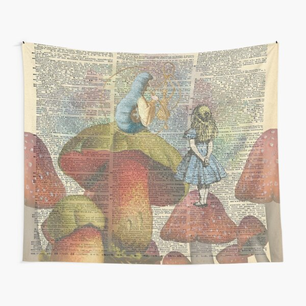 Alice In Wonderland - The Hookah Smoking Caterpillar Tapestry