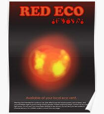 Red Eco Poster