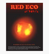 Red Eco Photographic Print