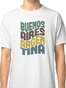 Buenos Aires Retro Wave Classic T-Shirt