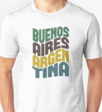 Camiseta unisex Buenos Aires Retro Wave