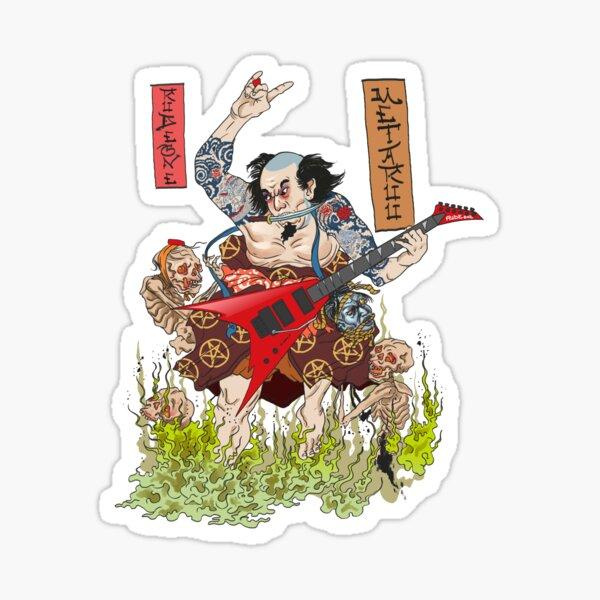 Metaruu! - Feudal Samurai Metalhead Sticker