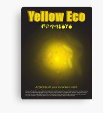 Yellow Eco Canvas Print