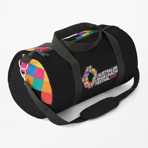 Full Colour ASF20 logo with text (dark background) Duffle Bag