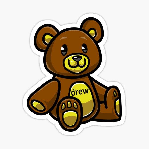 Teddy Bear Drew Justin.B Sticker