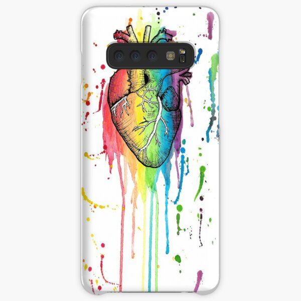 Watercolour and Pen Rainbow Anatomical Heart Samsung Galaxy Snap Case