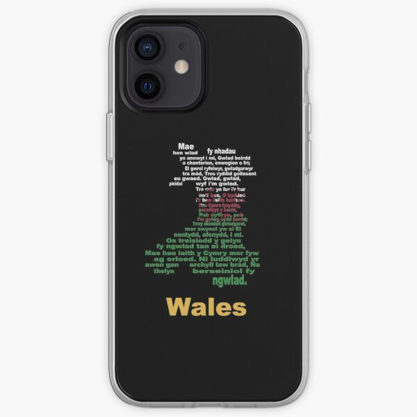 (Anthem + flag + map) = Wales iPhone Soft Case