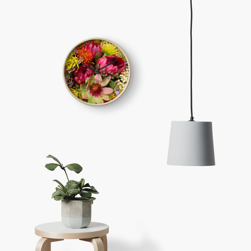 Protea Design in South Africa Clock