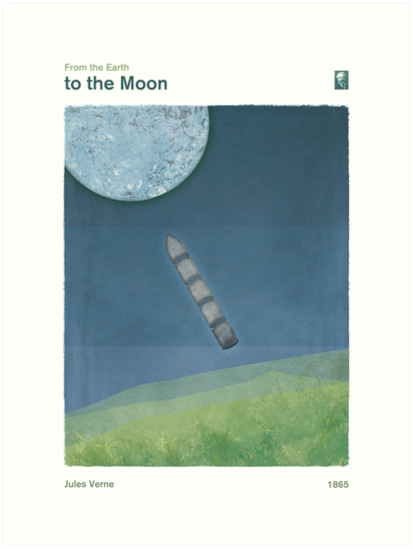 From the Earth to the Moon - Jules Verne by RedHillPrints