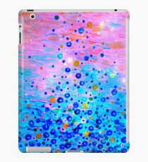 WHAT GOES UP, REVISITED Bold Royal Blue Pink Bubbles Whimsical Underwater Ocean Abstract Painting iPad Case/Skin