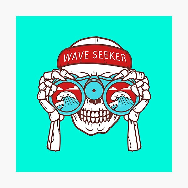 wave seeker sight is facing the sea Photographic Print