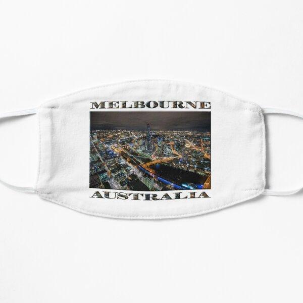 City Lights (poster on white) Flat Mask
