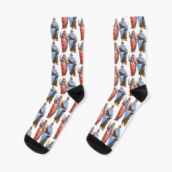 Plato and Aristotle  Socks