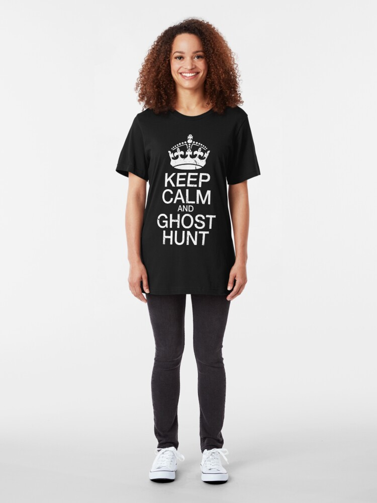 Alternate view of Keep Calm and Ghost Hunt Slim Fit T-Shirt