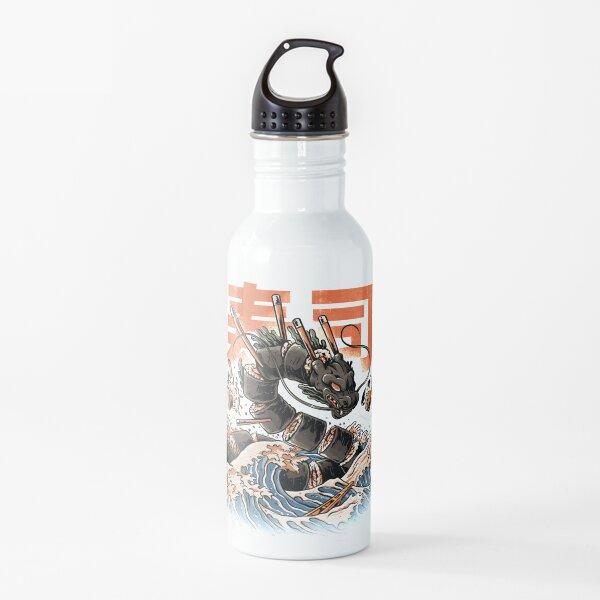 El dragón negro del sushi Botella de agua