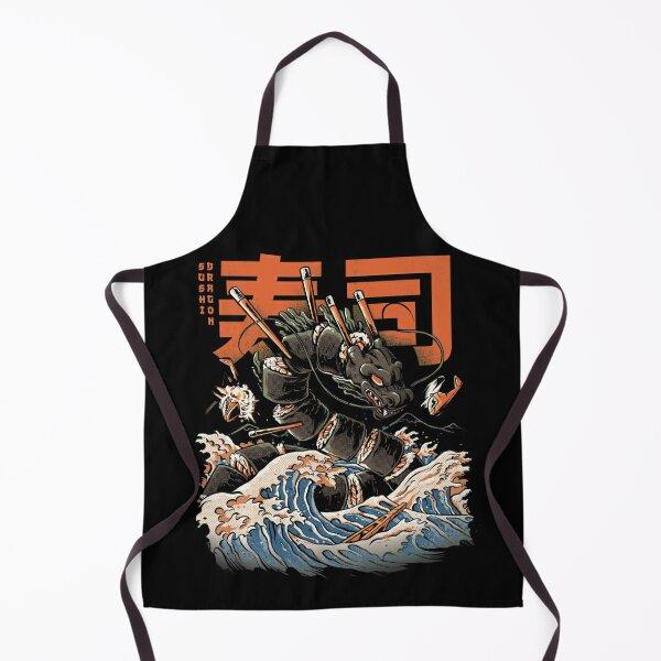 The Black Sushi Dragon Apron