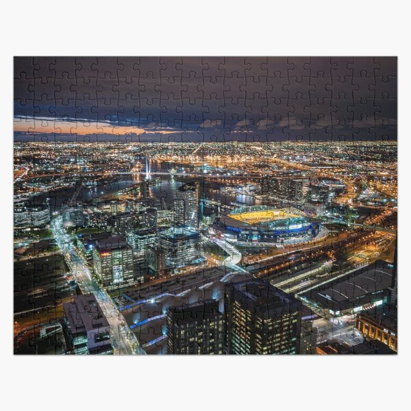 Melbourne at Night Jigsaw Puzzle