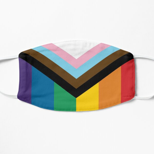 Philadelphia Rainbow Pride Flag (Proud LGBTQ+ Community Pride Flag) Flat Mask