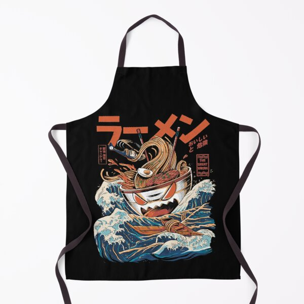 The black Great Ramen Apron