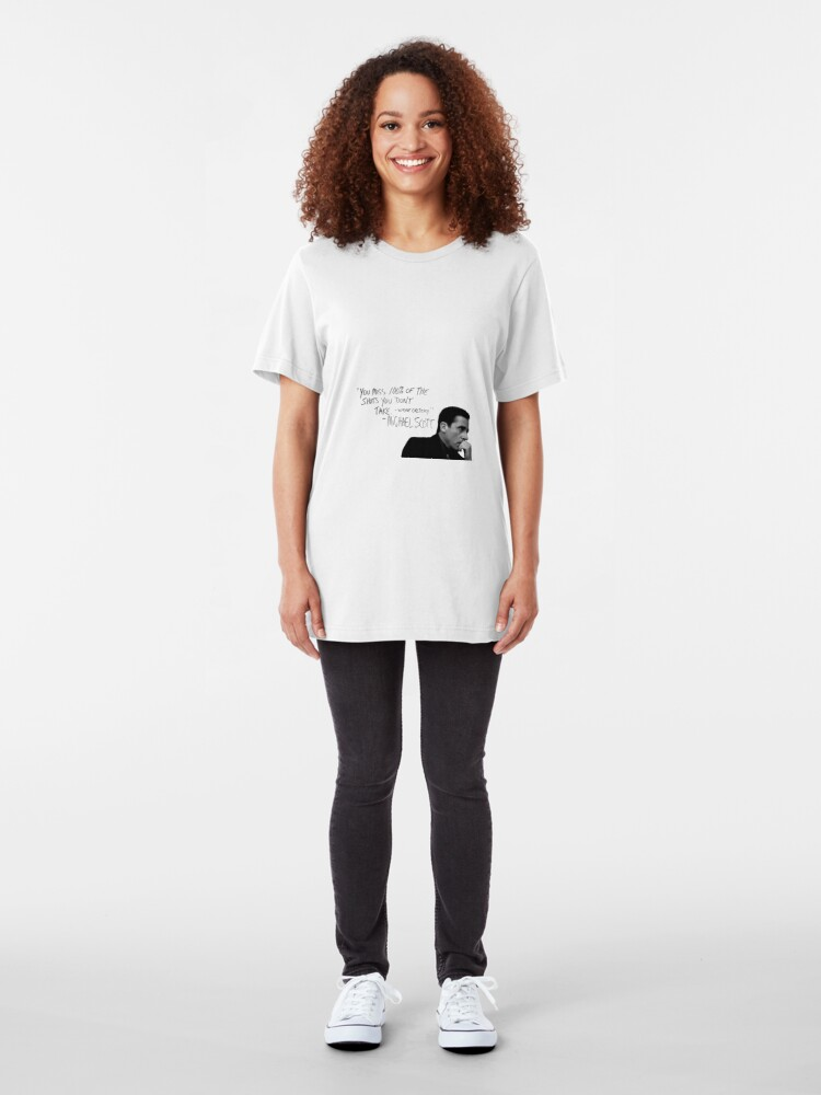 Alternate view of the office michael scott  Slim Fit T-Shirt