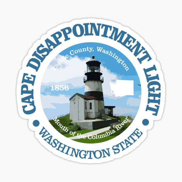 Cape Disappointment Light Sticker