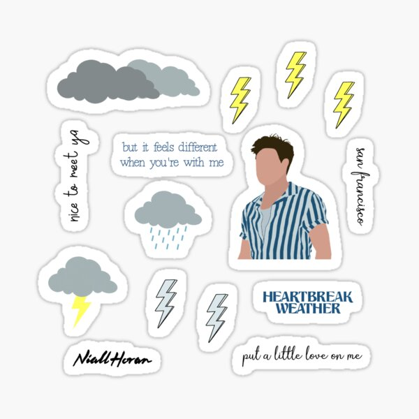 niall horan heartbreak weather pack Sticker