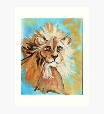 Expressionistic Lion Art Print