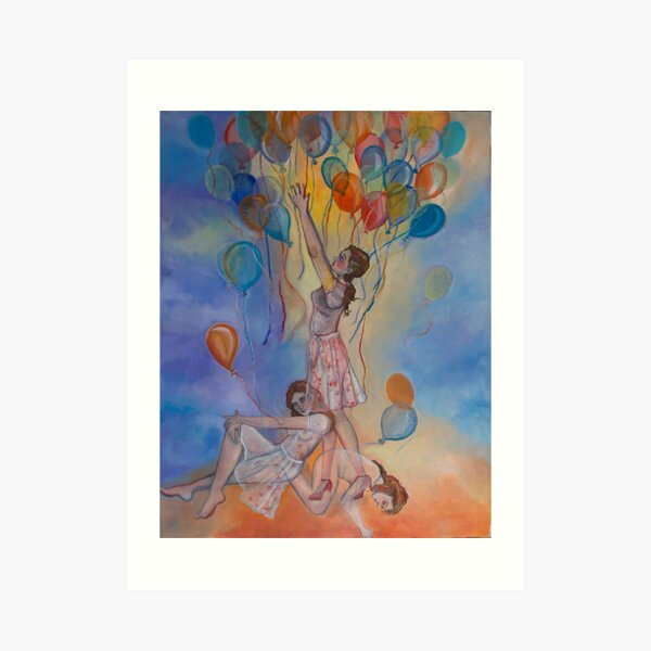 Balloon Girls Art Print