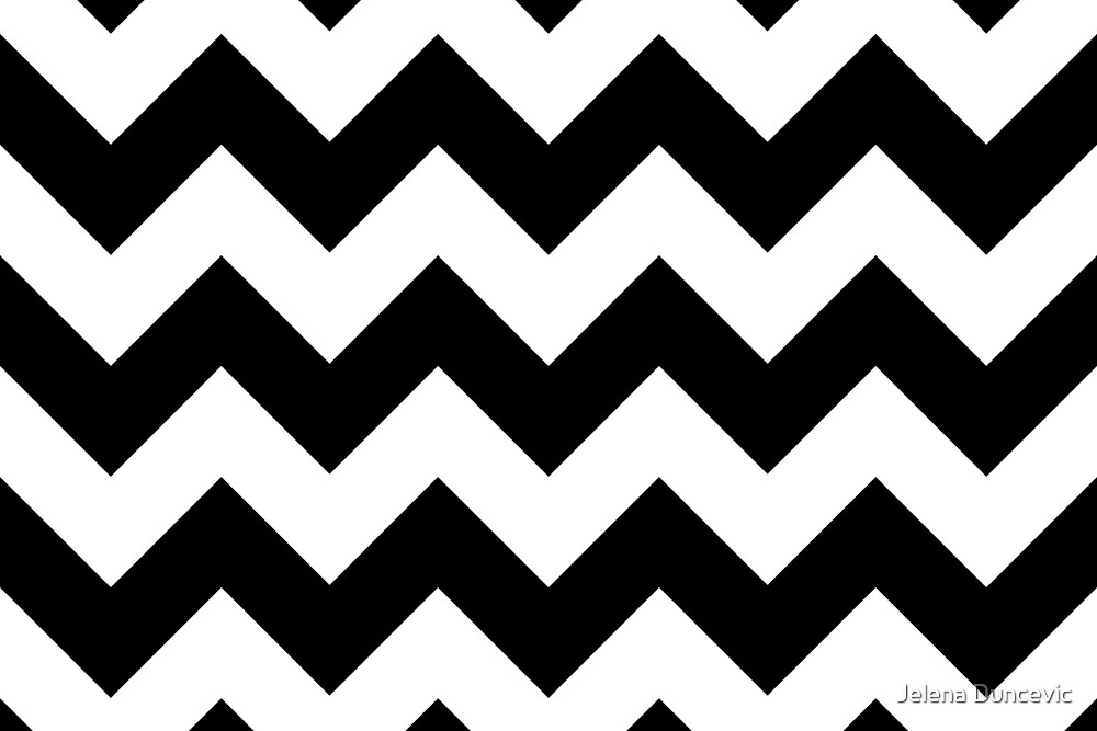 u0026quot;Zigzag Pattern, Chevron Pattern - White Blacku0026quot; by sitnica : Redbubble