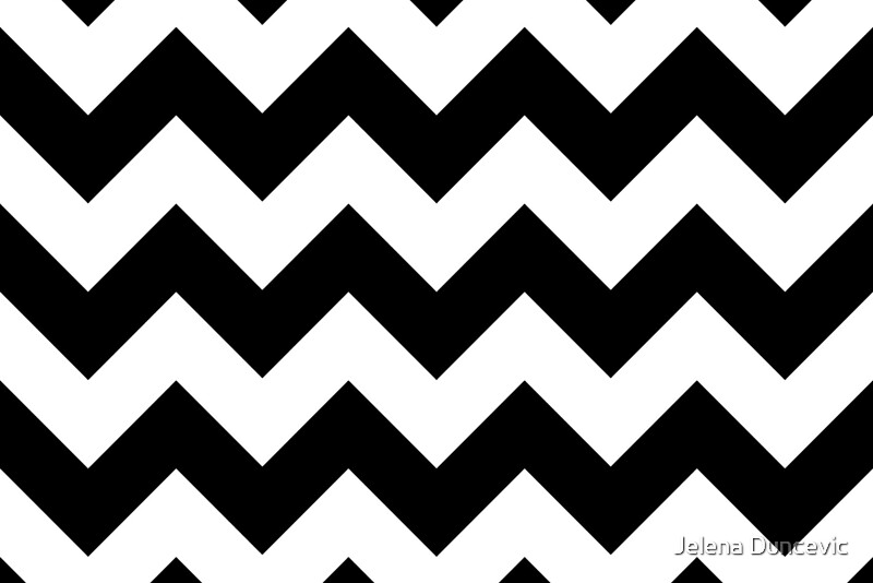 Quot Zigzag Pattern Chevron Pattern White Black Quot By Sitnica