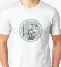 Architect Draftsman Circle Retro  T-Shirt