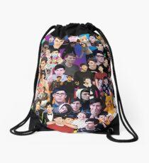 Phan Collage #3 Drawstring Bag