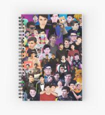 Phan Collage #3 Spiral Notebook