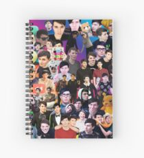 Phan Collage #3 Spiral Notebook
