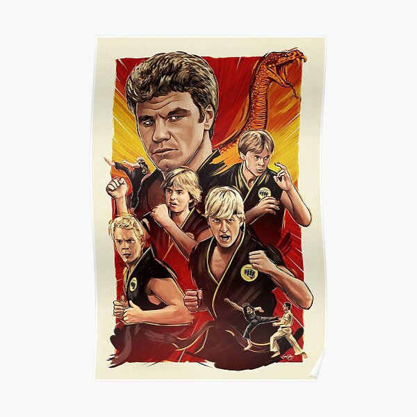 Johnny Lawrence and his cobra kai  Poster
