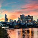 Melbourne Sunset by djzontheball