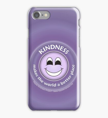 Kindness Makes The World a Better Place - Purple Cases iPhone Case/Skin