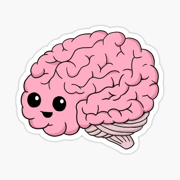Cute Brain Sticker