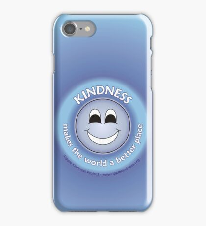 Kindness Makes The World a Better Place - Blue Cases iPhone Case/Skin