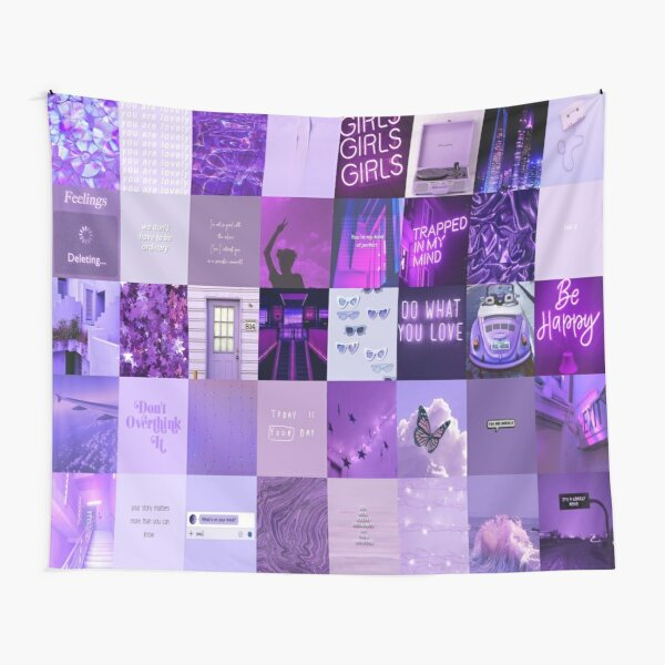 Purple collage Tapestry
