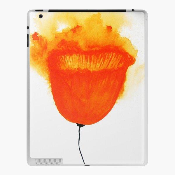 Poppy in Titian red / watercolor iPad Skin