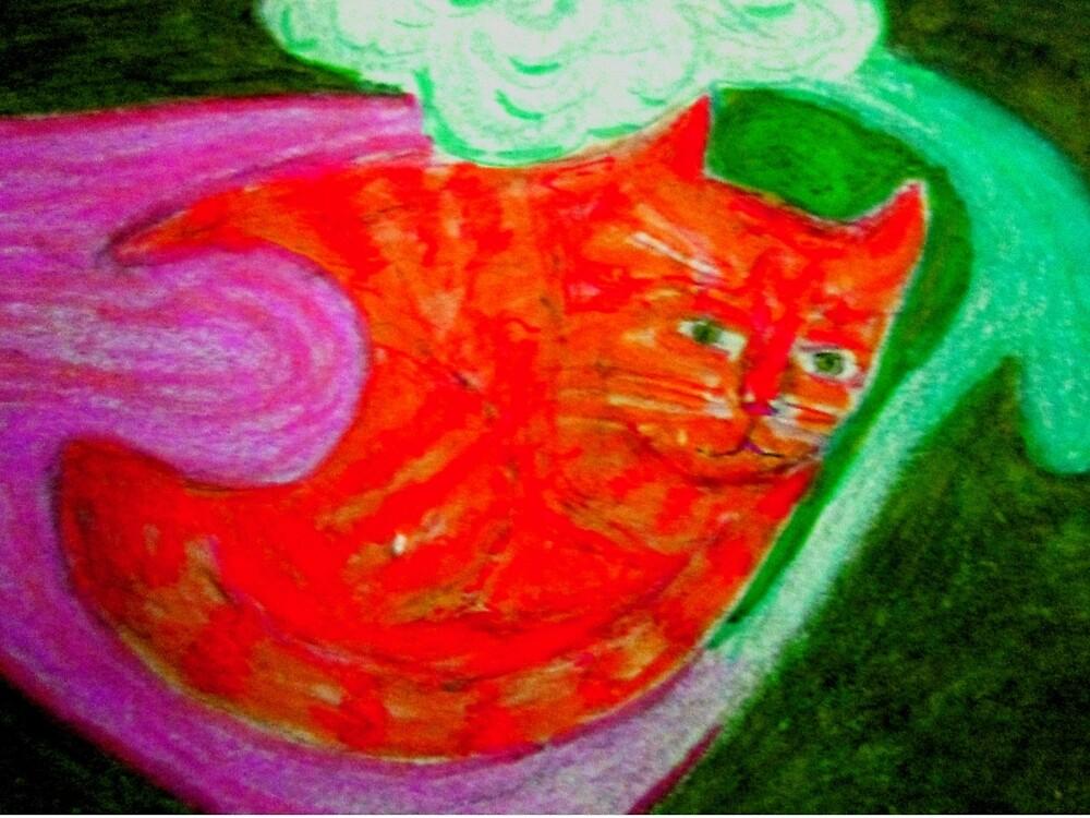 SUper GARF forever , Luminous Powers! by mathew imanuel