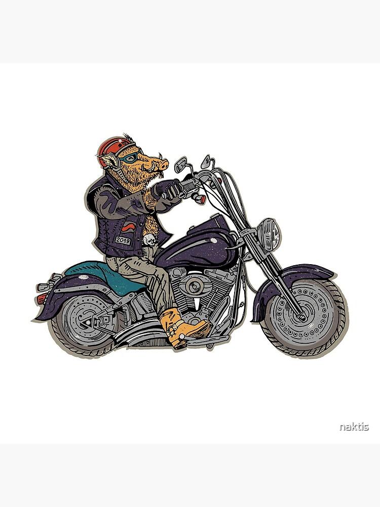 Boar motorcyclist. by naktis