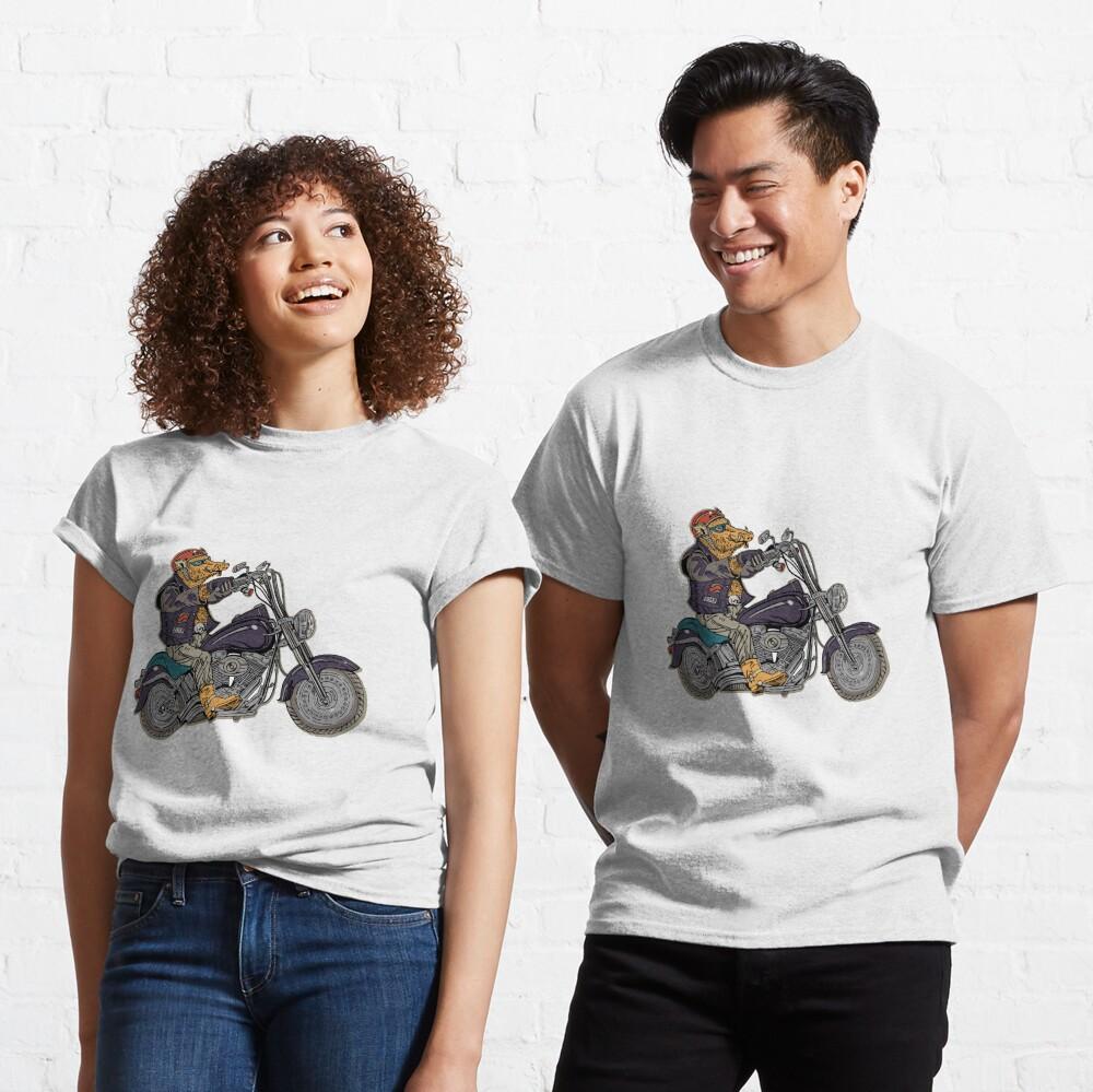 Boar motorcyclist. Classic T-Shirt