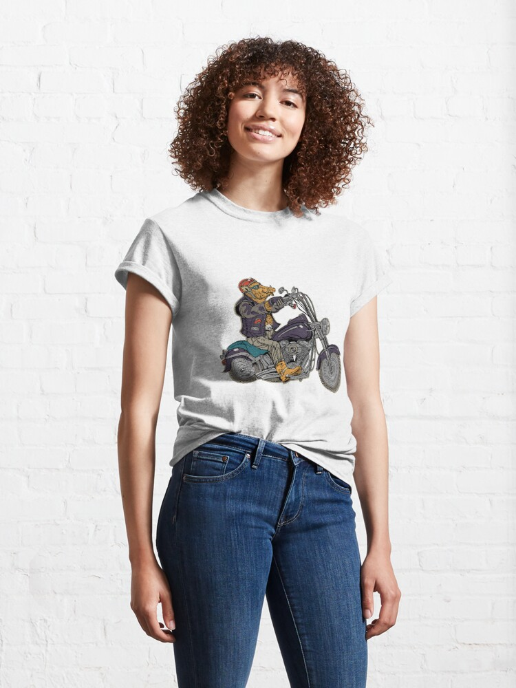 Alternate view of Boar motorcyclist. Classic T-Shirt