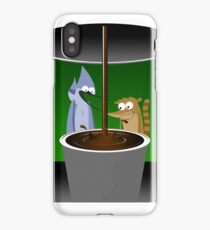 Mordecai, Rigby, and Coffee iPhone Case/Skin
